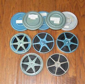 """Lot of 5 vintage 6"""" metal 8mm film reels home movies, vintage 1960s"""