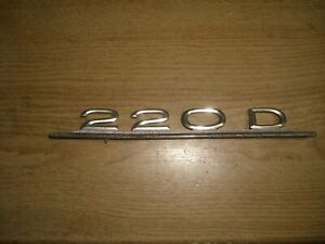 Emblem / Badge Mercedes-Benz 220 D Diesel Metall