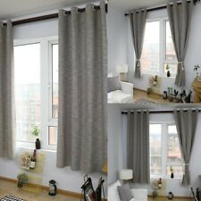 1PC Modern Plain Cotton Linen Curtain Living Bedroom Window Curtains Drapes New