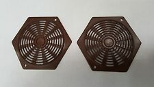 2 x Vivarium Reptile Tank Cupboard Caravan Hex Air Vents BROWN 80x68 mm