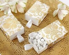 96 Traditional Gold Damask Treat Box Wedding Shower Favors