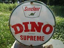 "RARE VINTAGE 1957 SINCLAIR GASOLINE PORCELAIN GAS PUMP ""DINO SUPREME"""