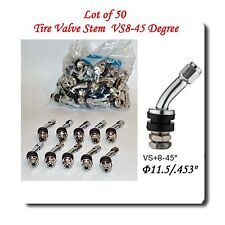 "50 Kit VS-45  Chrome Tire Valve Stem for Holes Φ11.5 mm / .453"" Fits: Motorcycle"
