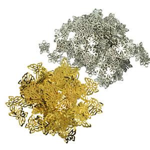 150pcs DIY Pendant Butterfly Charms Bulk Findings Retro Silver Gold Tone