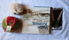 """Vogue Knitting Hardcover Book with 24"""" Size 9 Circular Needles and Wool Yarn"""