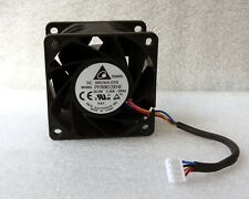 Delta 60mm x 38mm Ultra High Airflow PWM HP Fan 76 CFM 4 Pin PFR0612XHE