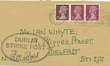 1971 COVER FROM DEVON TO BELFAST, OVAL DUBLIN / STRIKE POST / Fee Paid MARK