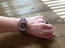 Adidas Sport Watch Purple And Gold