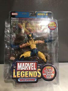 """WOLVERINE Marvel Legends Series 3 6"""" Action Figure New Toy Biz 2002 w.X-Men #133"""