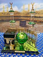 Crystal Glass Mecca ALLAH MUHAMMAD Islamic Home Decor Ramadan Eid Gift Boxed