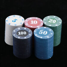 100 Pieces Casino Fun Home Gift Poker Chips Tokens High Quality 3.9cm Type