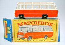 "Matchbox RW 68B Mercedes Coach orange top in rarer ""E2"" Box"