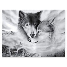 Square 5D Diy Drill Diamond Painting Wolf Embroidery Set Cross Room Decor Us
