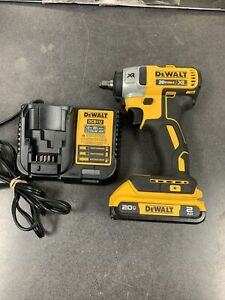 """Dewalt DCF890 20V Max XR 3/8"""" Compact Impact  With 2.0AH Battery AND cHARGER"""