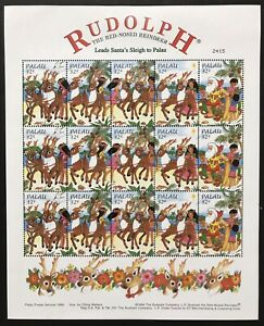 PALAU RUDOLPH THE RED NOSED REINDEER STAMPS SHEET 1998 MNH CHRISTMAS HOLIDAYS