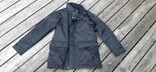 Banana Republic Men's black Rain Coat Jacket Long Beltless Trench M polyurethane