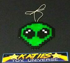 Alien Green Space Cool Car Mirror Hanger Gift Wall Art Display Door Hanger pixel