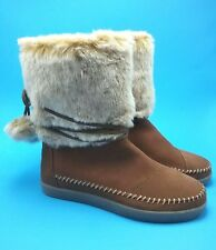 TOMS Womens Nepal Rawhide Suede Faux Hair Boots US 6,5