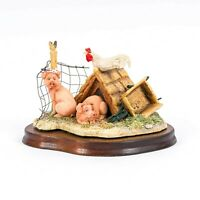 "1991 Lowell Davis ""The Honeymoon's Over"" Pigs Farm Figurine Schmid Scotland"