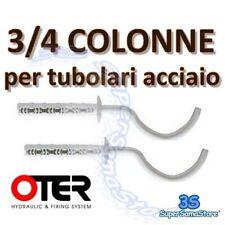 3S COPPIA MENSOLA in ACCIAIO per CALORIFERO RADIATORE TUBOLARE a 3/4 COLONNE