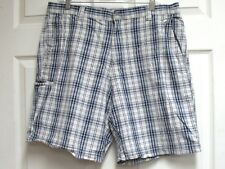 DOCKERS Men's Light Blue Plaid Shorts Relaxed Fit 5 Pockets Cargo Size W36 EUC