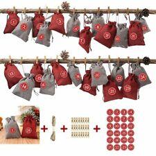 24x Calendar XMAS filling Christmas Bag Home Decor Advent Calendar Christmas QZ