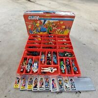 GI Joe Lot -- 24 figures, file cards, case & accesories ( Storm Shadow & more)