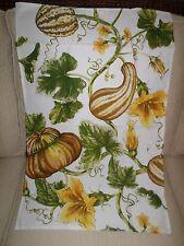 Williams Sonoma Halloween Thanksgiving Fall Botanical Pumpkin Cream Towel New