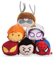 Disney Store SPIDERMAN  2 Collection Tsum Tsum Plush - Mini  3 1/2'' Set Of 6