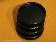 4 Klavieruntersetzer Untersetzer Klavier schwarz hochwertig Kunststoff 70mm