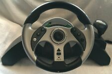 MadCatz MC2 Racing Steering Wheel and Pedals for XBox # 4520 CLEANED & TESTED
