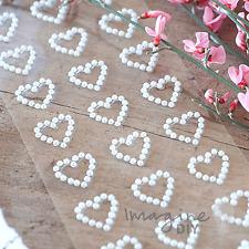 Self Adhesive Pearl Hearts - Sheet of 27
