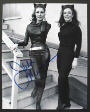 "BATMAN TV series photo signed by JULIE NEWMAR ""CATWOMAN"", with COA, 8x10"