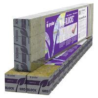 """Grodan 1.5"""" x 1.5"""" x 1.5"""" 45 Mini Blocks Strip w/ Holes rockwool stonewool cubes"""