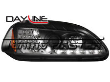 Honda Civic 96->98 Fari Dayline Neri Freccia LED