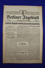 BERLINER TAGEBLATT (15.6.1916):Russische Angriffe nördlich Czernowitz abgewiesen