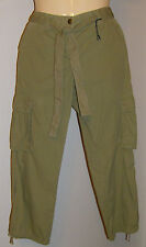 Tommy Hilfiger Capri Cargo Pants Size 4 NWT Low Rise Belted Olive Green COOL