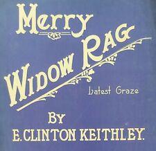 RAGTIME sheet music MERRY WIDOW RAG ~ E. CLINTON KEITHLEY pub'd LOUISVILLE, KY