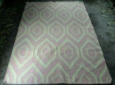 SAFAVIEH PINK & IVORY WOOL BLEND DHURRIE AREA RUG 4 x 6 EXCELLENT CONDITION