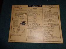 1950 PONTIAC  6CYL WIRING DIAGRAM & TUNE-UP CHART / FREE SHIPPING!!