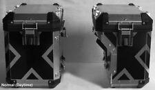 BMW R1200GS 2014 and up Adventure Saddlebag X Pattern Reflective Tape kit BLACK
