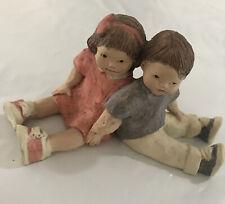 Daze Mortensen Figurine Boy & Girl Sitting