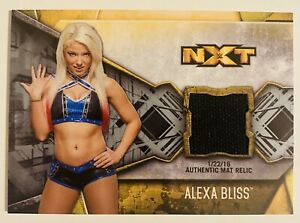 2017 TOPPS WWE NXT - ALEXA BLISS - EVENT-USED MAT RELIC - BRONZE PARALLEL- 24/50