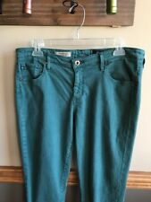 AG Adriano Goldschmied The Stevie Ankle Slim Straight Jeans Women's Sz 32R Green