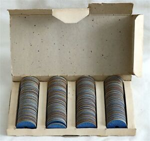 CANADA - 1939-1945 - WWII - COMPLETE BOX OF 200 BLUE TOKENS - MEAT RATION