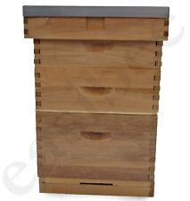 Langstroth Beehive Bee Keeping Cedar 2 Super 1 Brood Flat Roof Bee Hive 870