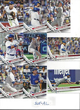 2017 Topps 1 & 2 Los Angeles Dodgers Team Set Clayton Kershaw Joc Pederson 28