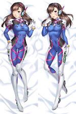 "Overwatch OW D.Va Cute Dakimakura Anime Body Pillow Cover Case 150x50 59"""