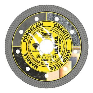 SabreCut 125mm Thin Turbo Diamond Grinder Cutting Blade Disc for Tiles 5 inch