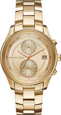 New Michael Kors Women's Briar Multi-Function Gold-Tone Bracelet Watch MK6464